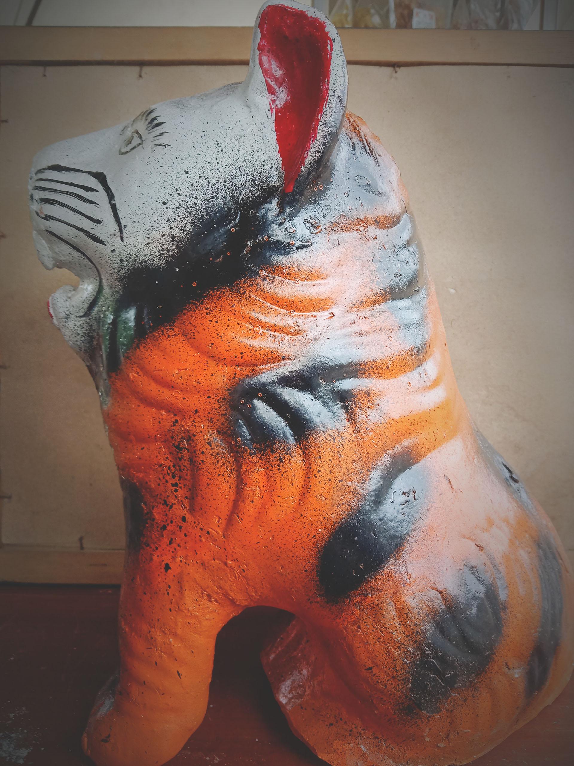celengan kartun ( harimau )